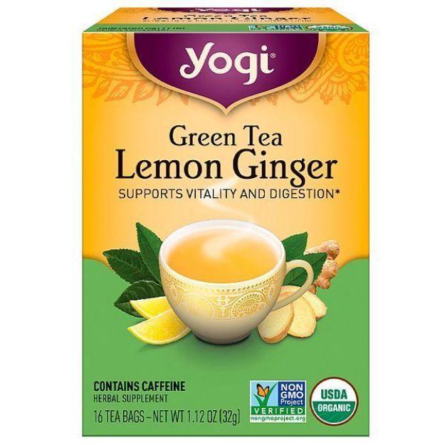 Yogi® Green Tea Lemon Ginger - Supports Vitality and Digestion