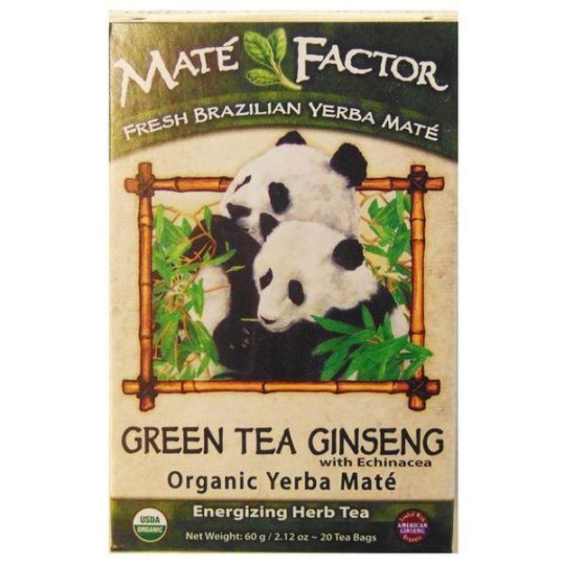 Maté Factor Green Tea - Ginseng with Echinacea Yerba Mate Tea