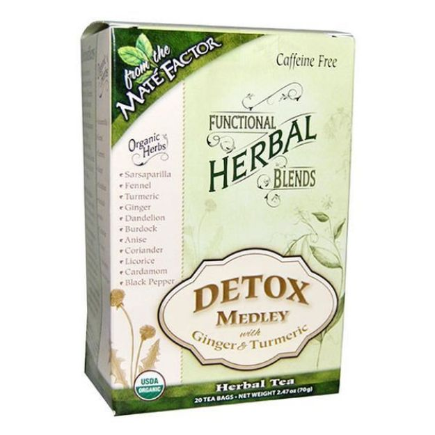 Mate Factor Detox Medley with Ginger & Turmeric Herbal