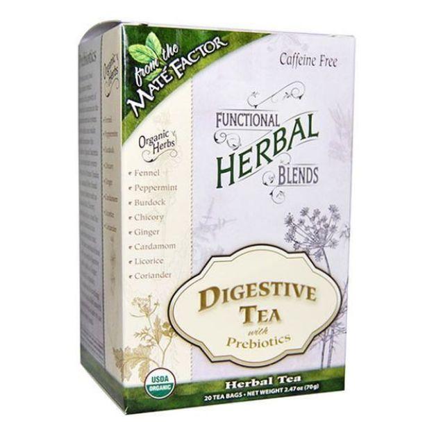 Mate Factor Digestive with Prepiotics Herbal Tea Blend