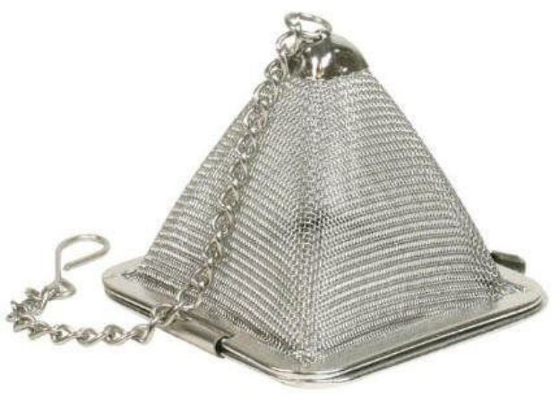 """Pyramid Shaped Stainless Steel Infuser (1-3/4"""")"""