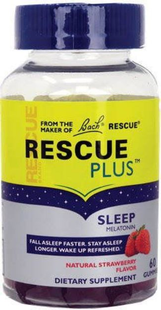 Bach Flower Remedies Rescue Plus Strawberry Sleep Gummies