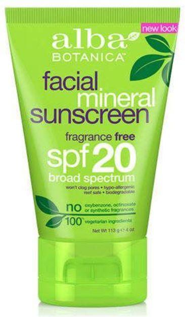Alba Botanica Facial Mineral Sunscreen SPF 20