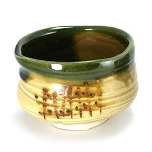 Matcha Bowl, Green & Tan