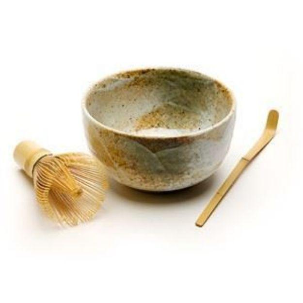 Matcha Bowl, Spoon, & Whisk Set, Earth Tone