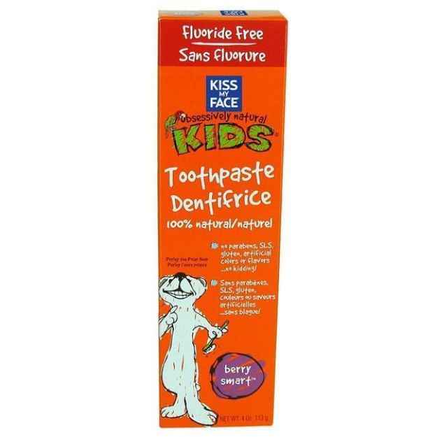 Berry Smart Toothpaste Fluoride Free (4 oz., Kiss My Face)