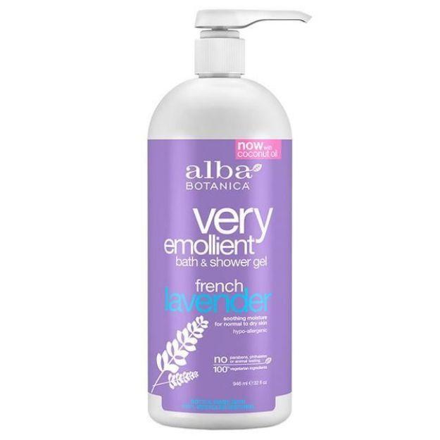 Bath & Shower Gel - French Lavender (32 fl. oz., Alba Botanica)