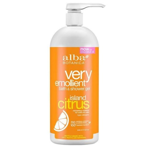 Bath & Shower Gel - Island Citrus (32 fl. oz., Alba Botanica)