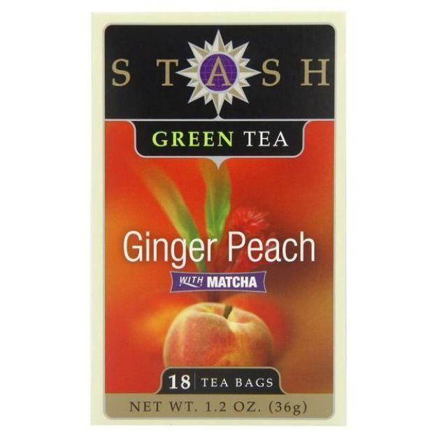 Ginger Peach Green with Matcha (18 tea bags, Stash Tea)