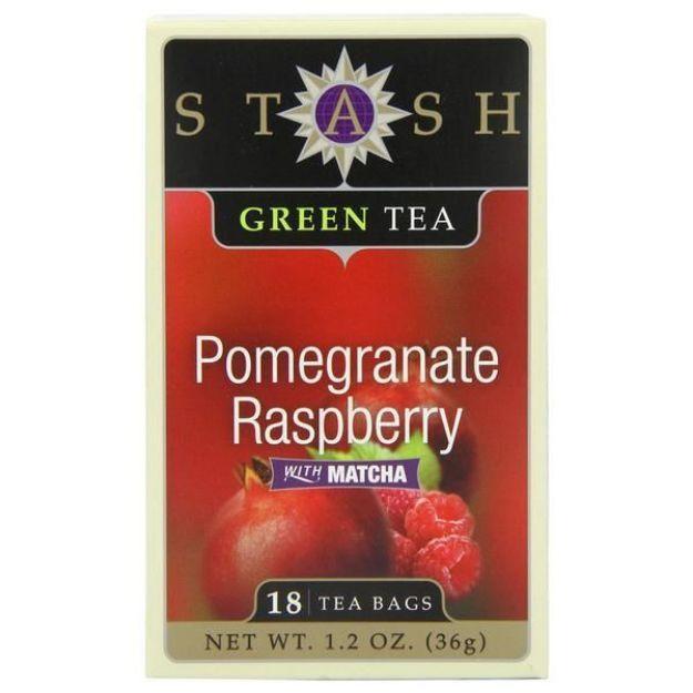 Pomegranate Raspberry Green with Matcha (18 tea bags, Stash Tea)
