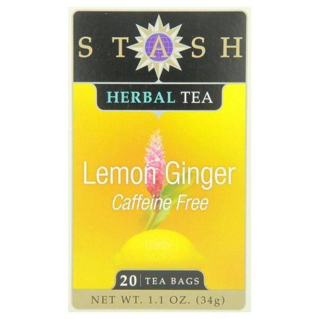 Lemon Ginger (20 tea bags, Stash Tea)