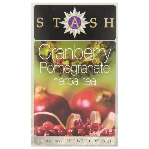 Cranberry Pomegranate Herbal Tea (18 tea bags, Stash Tea)