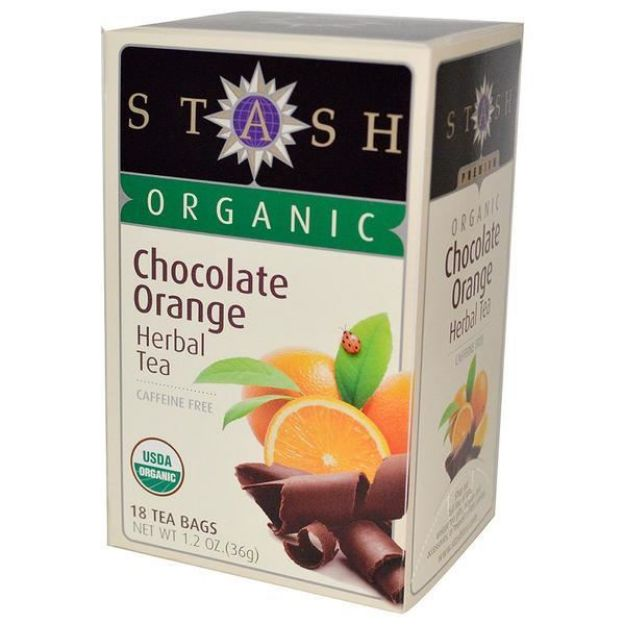 Chocolate Orange Herbal Tea (18 tea bags, Stash Tea)