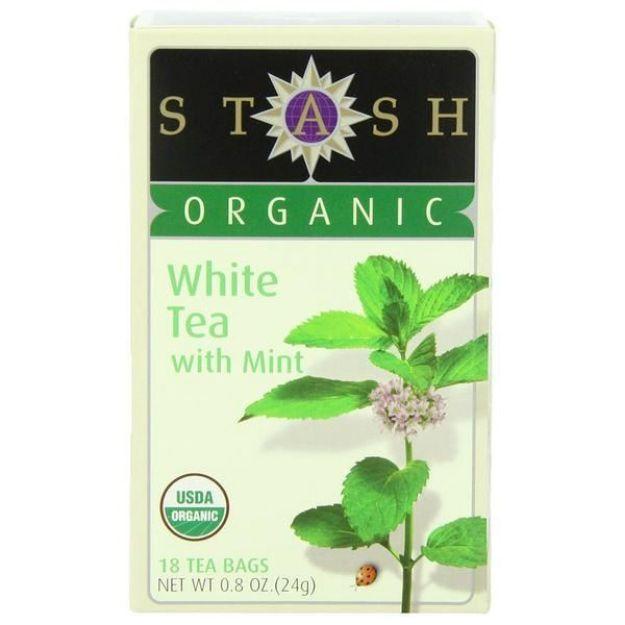 White tea with Mint (18 tea bags, Stash Tea)