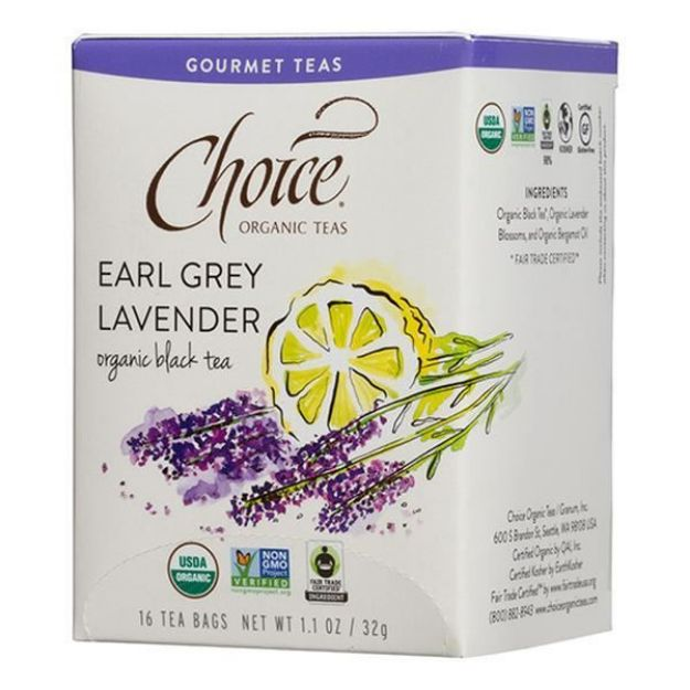 Earl Grey Lavender Gourmet Tea (16 tea bags - Choice Teas)