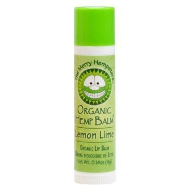 Lemon Lime Organic Hemp Lip Balm (0.14 oz tube, Merry Hampsters)