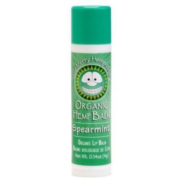 Spearmint Unscented Organic Hemp Lip Balm (0.14 oz tube, Merry Hampsters)