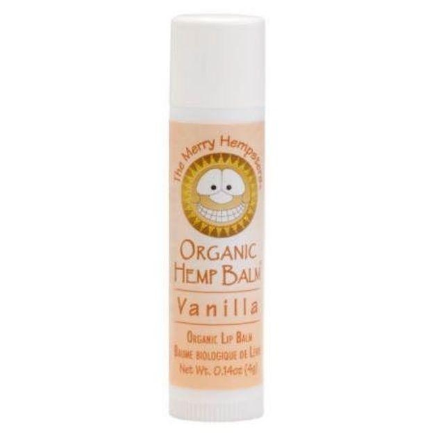 Vanilla Organic Hemp Lip Balm (0.14 oz tube, Merry Hampsters)