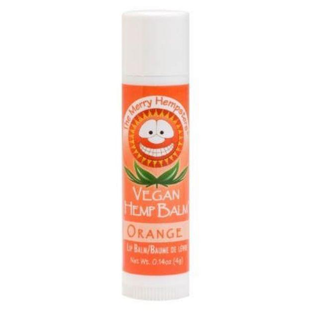 Orange Vegan Hemp Lip Balm (0.14 oz tube, Merry Hampsters)