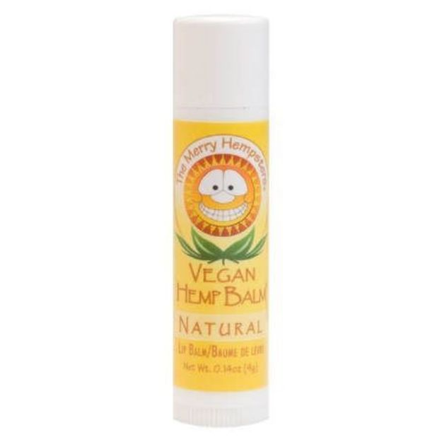 Natural Vegan Hemp Lip Balm (0.14 oz tube, Merry Hampsters)