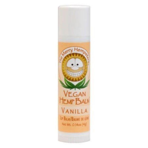 Vanilla Vegan Hemp Lip Balm (0.14 oz tube, Merry Hampsters)