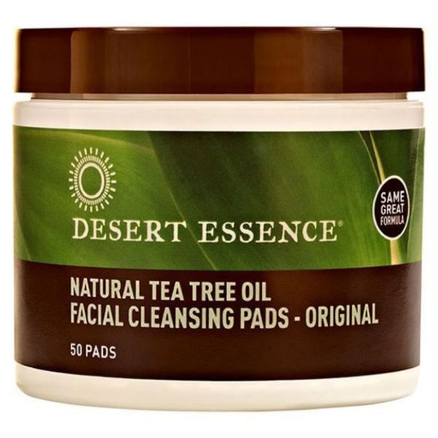 Facial Cleansing Pads with Tea Tree (50 pads, Desert Essence)