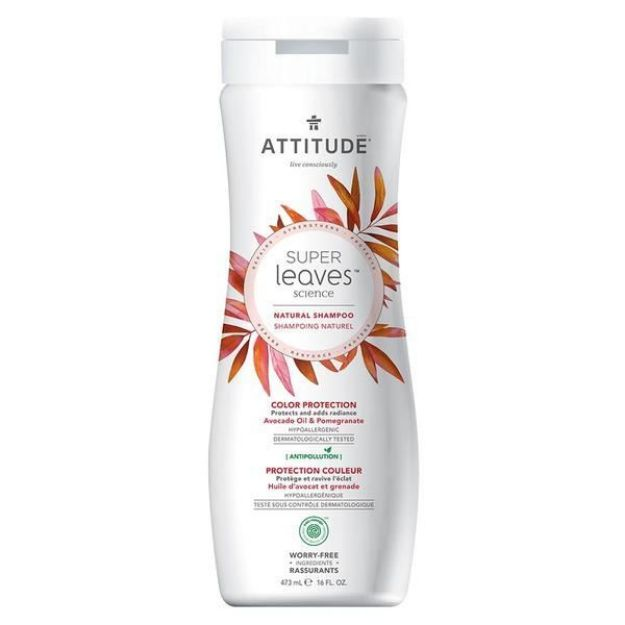 Shampoo - Avocado Oil & Pomegranate - Repair & Color Protection (16 fl. oz., Attitude)