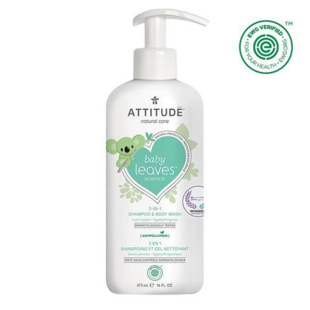 Baby Shampoo & Body Wash - Sweet Apple (16 fl. oz., Attitude)