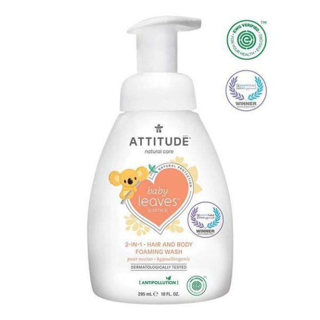 Baby Shampoo & Body Foaming Wash - Pear Nectar (10 fl. oz., Attitude)