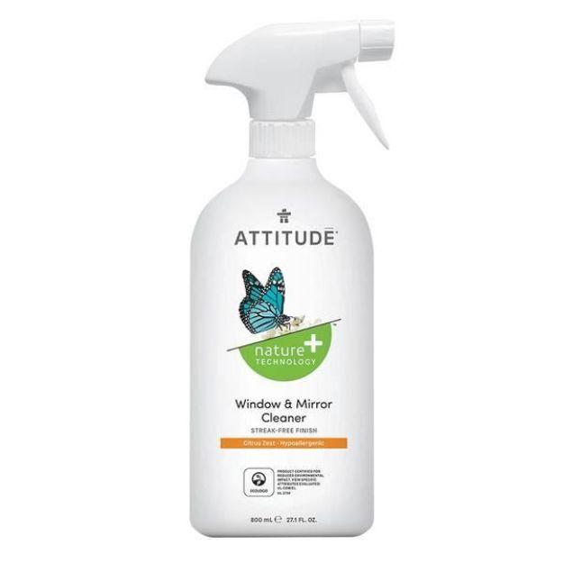 Cleaner - Window & Mirror - Citrus Zest (27 fl. oz., Attitude)