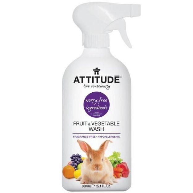 Fruit & Veggie Wash - Fragrance Free (27 fl. oz., Attitude)