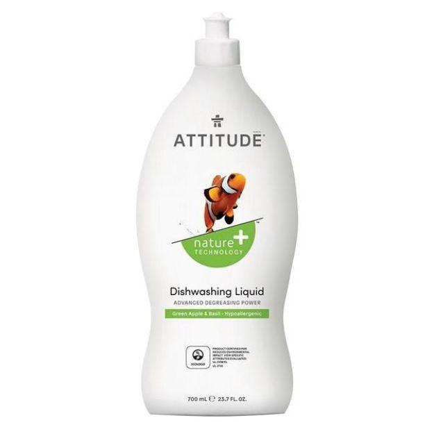 Cleaner - Dishwasher Liquid - Green Apple & Basil (23.7 fl. oz., Attitude)