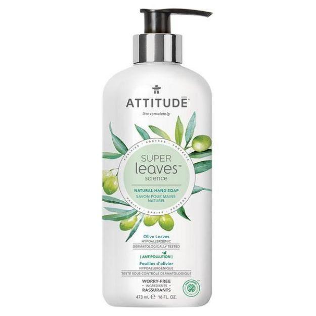 Hand Soap Gel - Olive Leaves & Grape seed Oil (16 fl. oz., Attitude)
