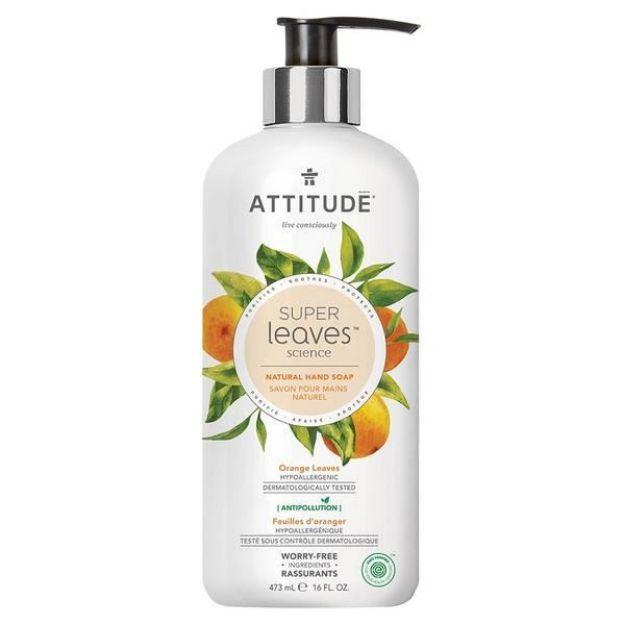 Hand Soap Gel - Orange Leaves & Soy Protein (16 fl. oz., Attitude)