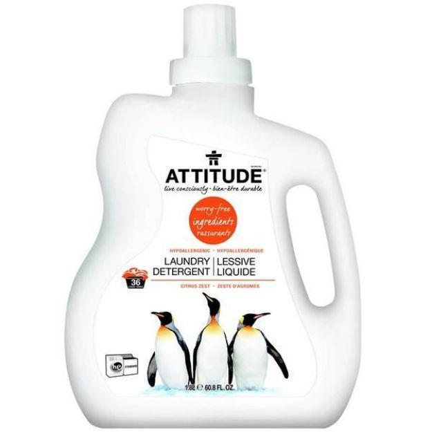 Laundry Liquid - 2X - Citrus Zest (60.8 fl. oz., Attitude)