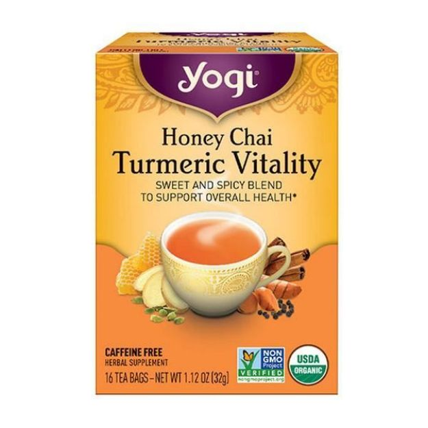 Honey Chai Turmeric Vitality - Sweet and Spicy  (16 bags, Yogi®)