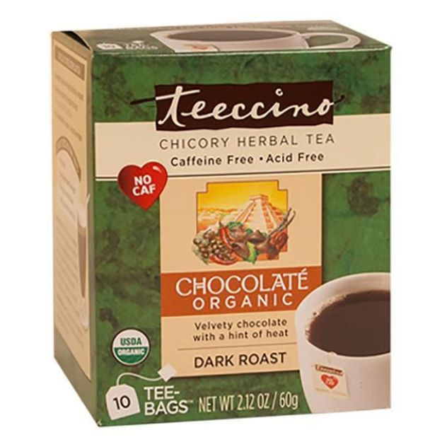 Chocolate Dark Roast Chicory Herbal Tea (10 bags, Teeccino)
