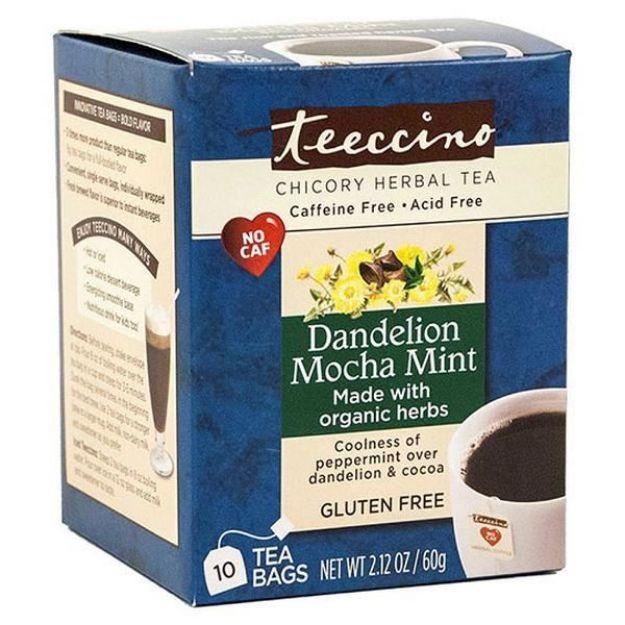 Dandelion Mocha Mint Chicory Herbal Tea (10 bags, Teeccino)