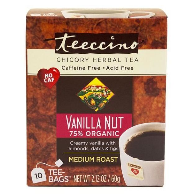 Vanilla Nut Chicory Herbal Tea (10 bags, Teeccino)
